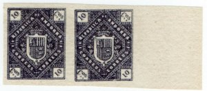 (I.B) Andorra Postal : Arms of The Republic 10c (die proof)