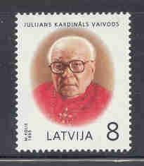 Latvia Sc 399 1995 Cardinal Vaivods stamp mint NH