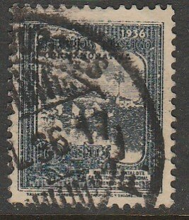 MEXICO 726, 10¢ HIGHWAY INAUGURATION, USED F-VF. (977)