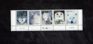 3288-91 Arctic Animals Strip W/Plate Number Mint/nh (Free Shipping)
