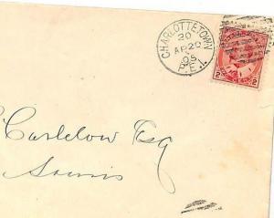 UU517 1905 Canada PRINCE EDWARD ISLAND Charlottetown Souris {samwells-covers}