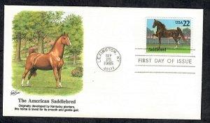 2157 Horses:  Saddlebred Unaddressed Fleetwood FDC