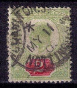 Great Britain Scott # 130b Used Nottingham Gren/Violet/Chalk Paper (Sg 228) F-VF