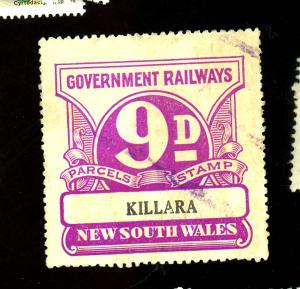 New South Wakes Killara Railway Stamp F-VF