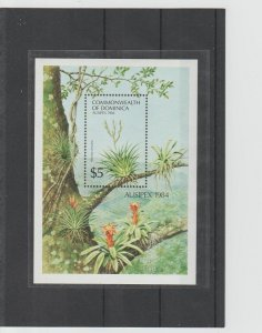 Dominica  Scott#  851  MNH  S/S  (1984 Spreading Airplant)