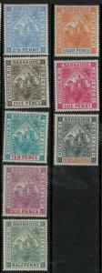 Barbados 1897 SC 81-89 Mint SCV $361.00 Set