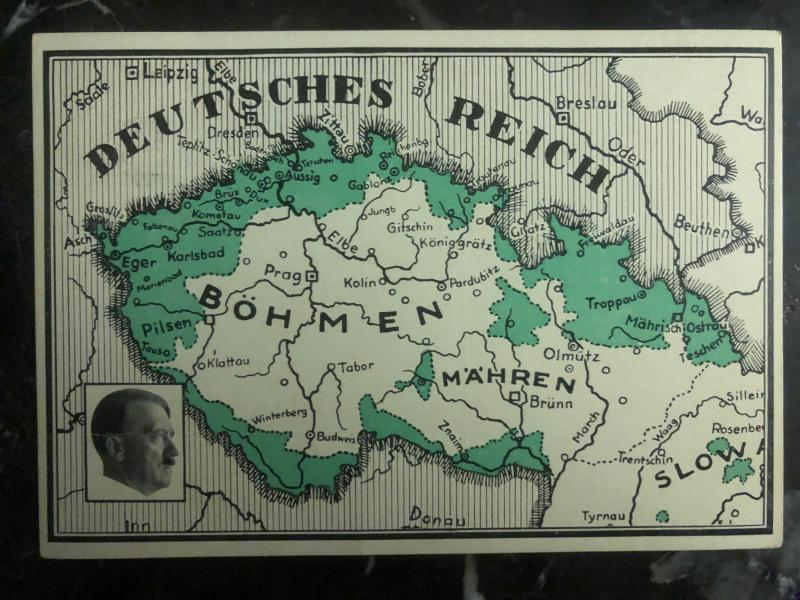 1938 Breitenbach Sudetenland Germany Picture Postcard Cover New Territories