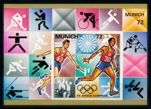 [99975] Equatorial Guinea 1972 Olympic Games Munich Judo Imperf. Sheet MNH