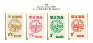 South Viet Nam - 1963 - SC 211 - 214 - Common Defense Emblem - MNH