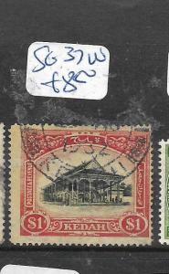 MALAYA KEDAH (P1006B) COW $1.00  SG 37W     VFU