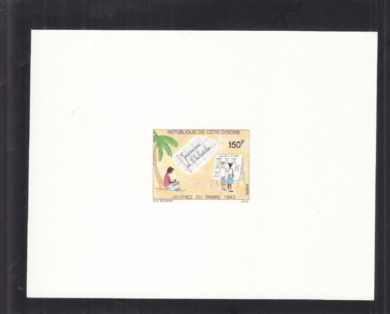 1993, Ivory Coast: Sc # 932, Boy Stamp Collecting, MNH, Die Proof (S14652)
