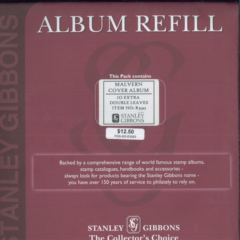 Stanley Gibbons Malvern Cover Album 10 Extra Double Leaves Album Refill R3593