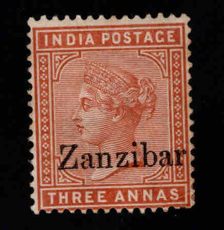 Zanzibar Scott 8 MH* nice color  and centering