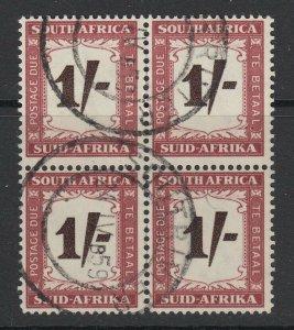 South Africa, Scott J45 (SG D44), used block
