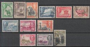 Gold Coast - 1948 KGVI stamp set Sc# 130/141 (7007)