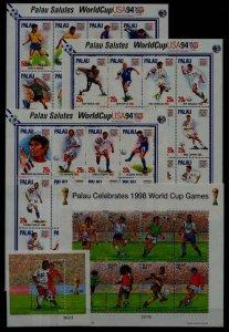 Palau MNH lot Football-94,98 SCV37