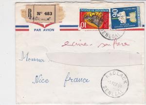 Rep Du Senegal 1969 Airmail Regd Kaolack Cancels Multiple Stamps Cover Ref 32513
