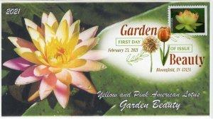 21-070, 2021,Garden Beauty, First Day Cover, Digital Color Postmark, SC 5567,