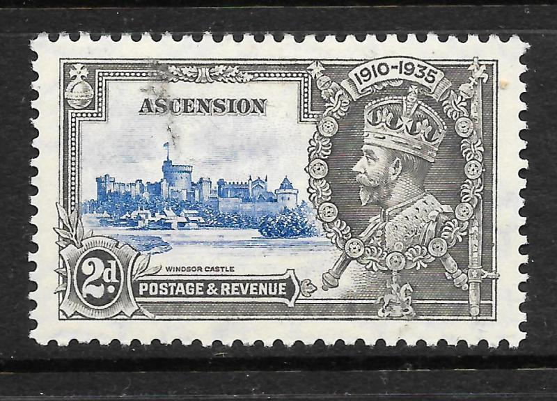 ASCENSION ISLAND  1935  2d  SILVER JUBILEE  MLH    SG 32