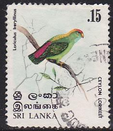Sri Lanka 565 Used 1979 Lorikeet