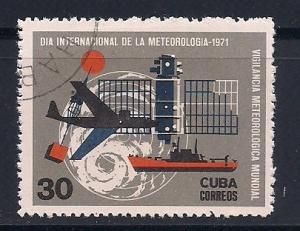 Cuba Sc. #1592 Meteorlogical Day 1971 Used L2