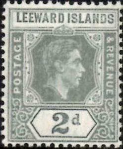Leeward Islands 1938 KGVI  2d Olive-Grey  SG.103   lmm
