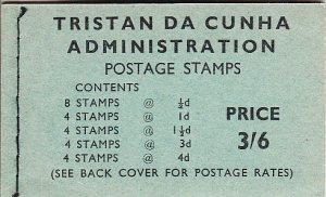 Tristan da Cunha 1965 SG #SB3 Booklet 1960 Queen Elizabeth II Scenics