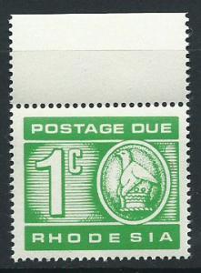 Rhodesia SG D18  MUH   Postage Due Margin Copy