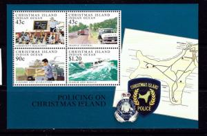 Christmas Is 306a MNH 1991 Island Police Souvenir Sheet