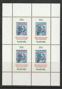 1978 Australia - Sc 687a - MNH VF - MS - Australia No 95