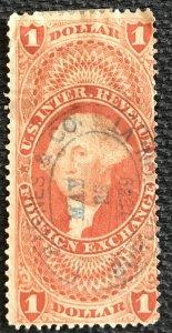 US Revenue #R68c Used Single Machine Cancel George Washington SCV $.75 L37