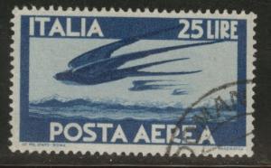 Italy Scott C111 used airmail stamp 1946 CV$13