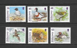 BIRDS - ALDERNEY #403-8  MNH