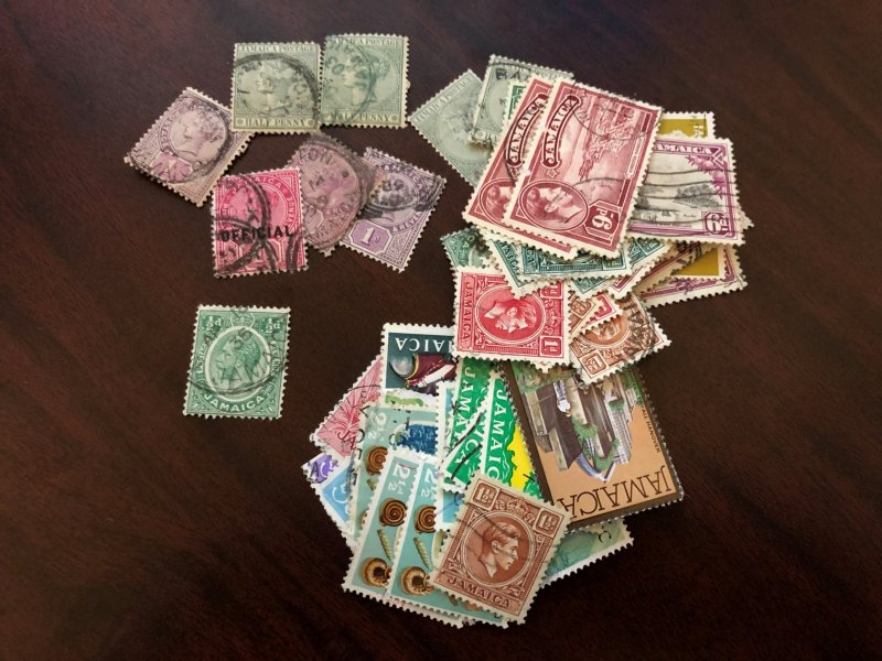 JAMAICA - Lot of Mint and Used Stamps from all periods