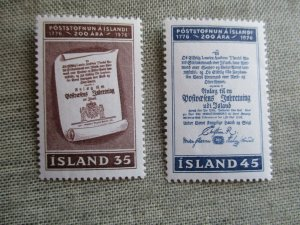 Iceland, Scott#493-494, MNH