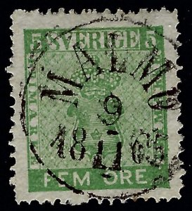 Beautiful Sweden Attractive Sc#6 Used VF Cat $20.00+...Sweden is Hot Now!