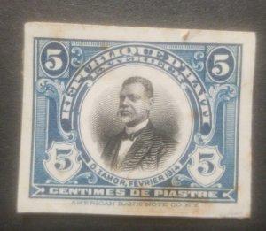 L) 1914 HAITI, ABN, DIE PROOFS, AMERICAN BANK NOTE, PRESIDENT ORESTE ZAMOR, 5C