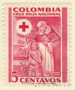 Colombia Postal Tax 1951 5c Fine Used A8P55F63