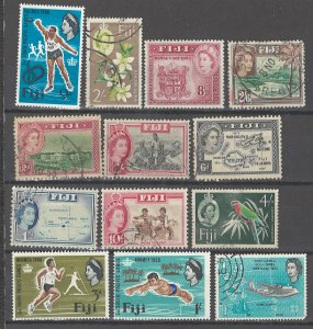 COLLECTION LOT # 3177 FIJI 13 STAMPS 1954+ CV+$15