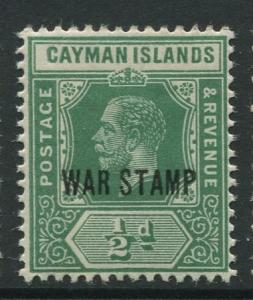 Cayman Islands - Scott MR5 - War Stamp Issue -1919 - MLH - Single 1/2d