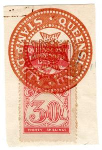 (I.B) Australia - Queensland Revenue : Impressed Duty 30/-