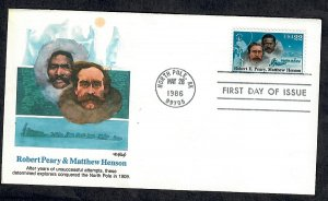 2223 Polar Explorer Unaddressed Fleetwood FDC
