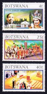 Botswana Silver Jubilee 3v SG#391-393 SC#179-181