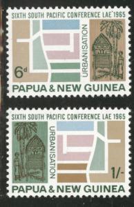 PNG Papua New Guinea Scott 204-5 MNH** 1965 set