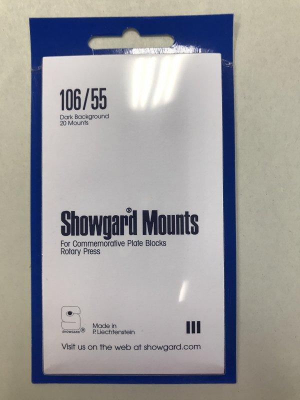 106/55 Showgard Mounts Dark Background - 20 Mounts