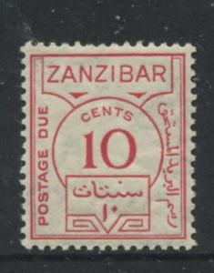 Zanzibar -Scott J19 - Postage Due Stamps -1936- MNH - Single 10c Stamp