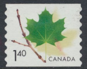 Canada  SG 2033a  Used  Coil stamp  Maple Leaf and Stem  SC# 2010   see scan