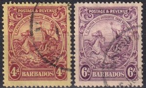 Barbados #173-4 F-VF  Used CV $3.00 (Z2461)