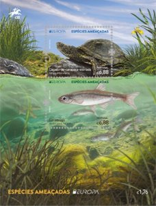 Portugal 2021 MNH Stamps Souvenir Sheet Europa CEPT Marine Life Turtles Fish
