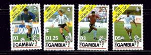 Gambia 1018-21 MNH 1990 World Cup Soccer